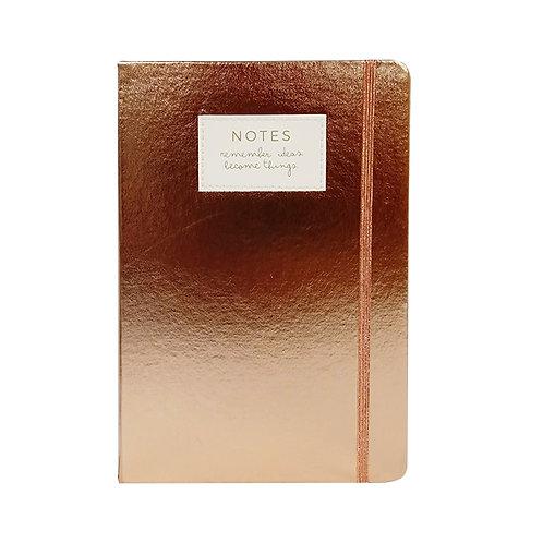 Cuaderno Talbot metalizado Golden Rose x 1 u.