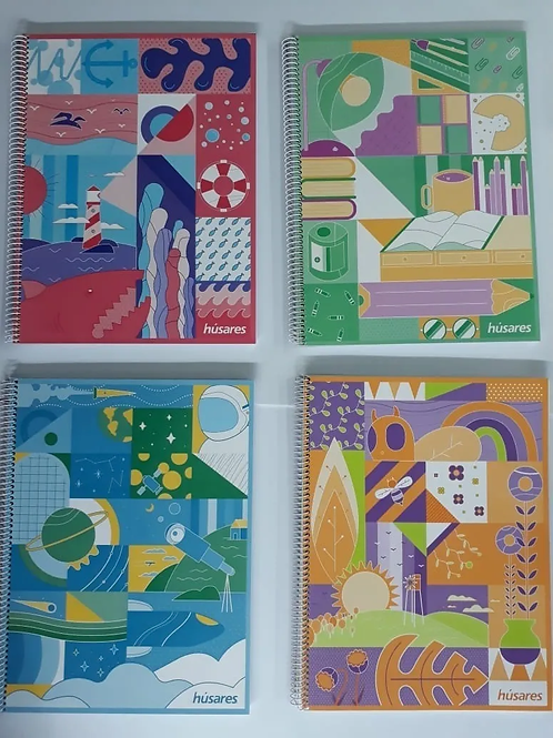 Cuaderno Husares A4  pastel x 80 hjs c/esp