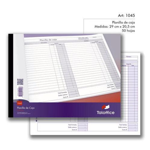 Talonario planilla de caja talon 1045 x 1 u. Tal