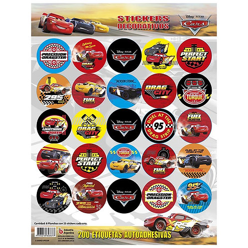 Stickers 200 u  x 8 planchas originales Otero Personajes