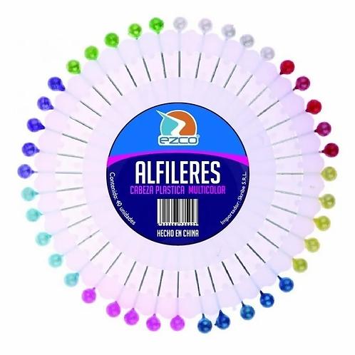 Alfileres Sifap x 40 u. cabeza color.