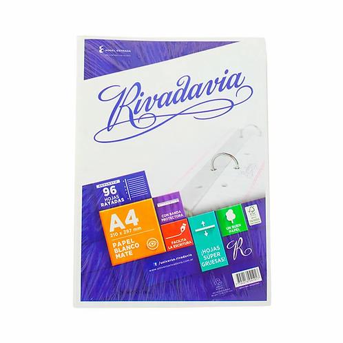 Repuesto Rivadavia A4 x 96 hojas c/ banda