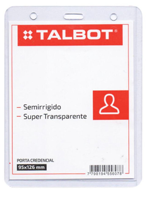 Porta Credencial Talbot SR. 95 X 126 mm. x 1 u.