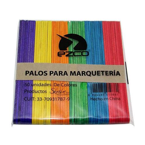 Palitos Ezco para helado Ezco 50 u. color