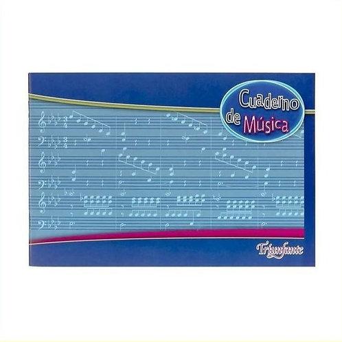 Cuaderno Triunfante Música tapa flexible 20 hjs x 1 u.