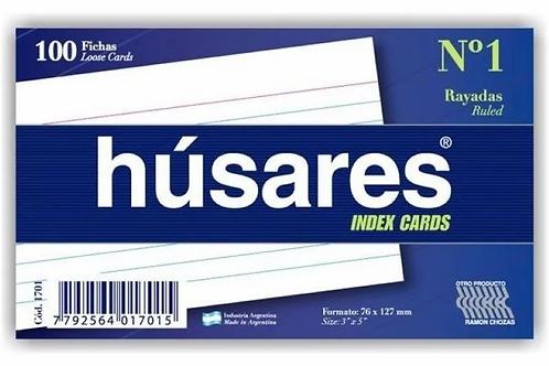 Ficha Bca. rayada N°1 Husares 100 hjs