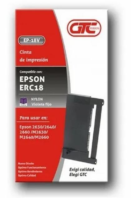 Cinta GTC para Epson ERC 18 x 1 u.
