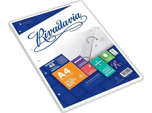 Repuesto Rivadavia A4 x 48 hojas c/ banda