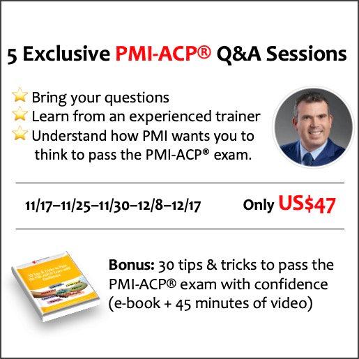 PMI-ACP® – Five Q&A 60-minute Sessions