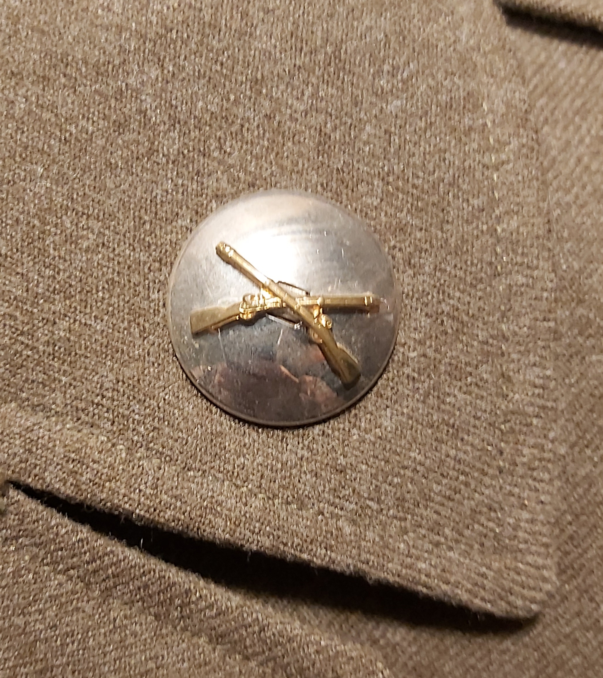 brass on silver collar