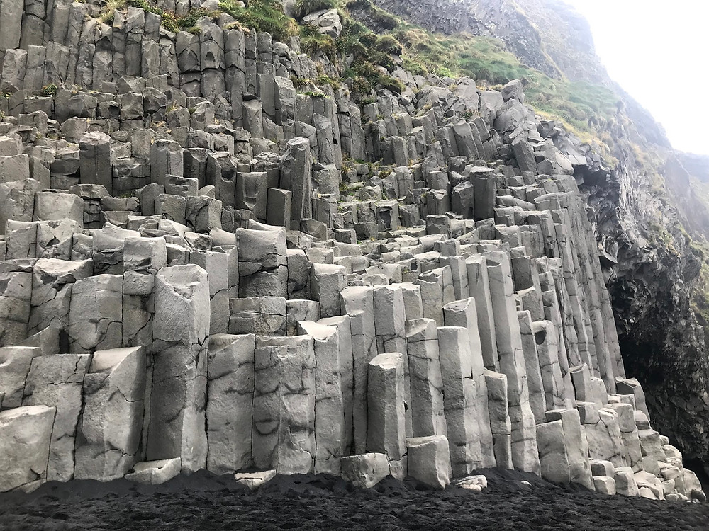Basalt columns at Reynisfjara beach in Iceland
