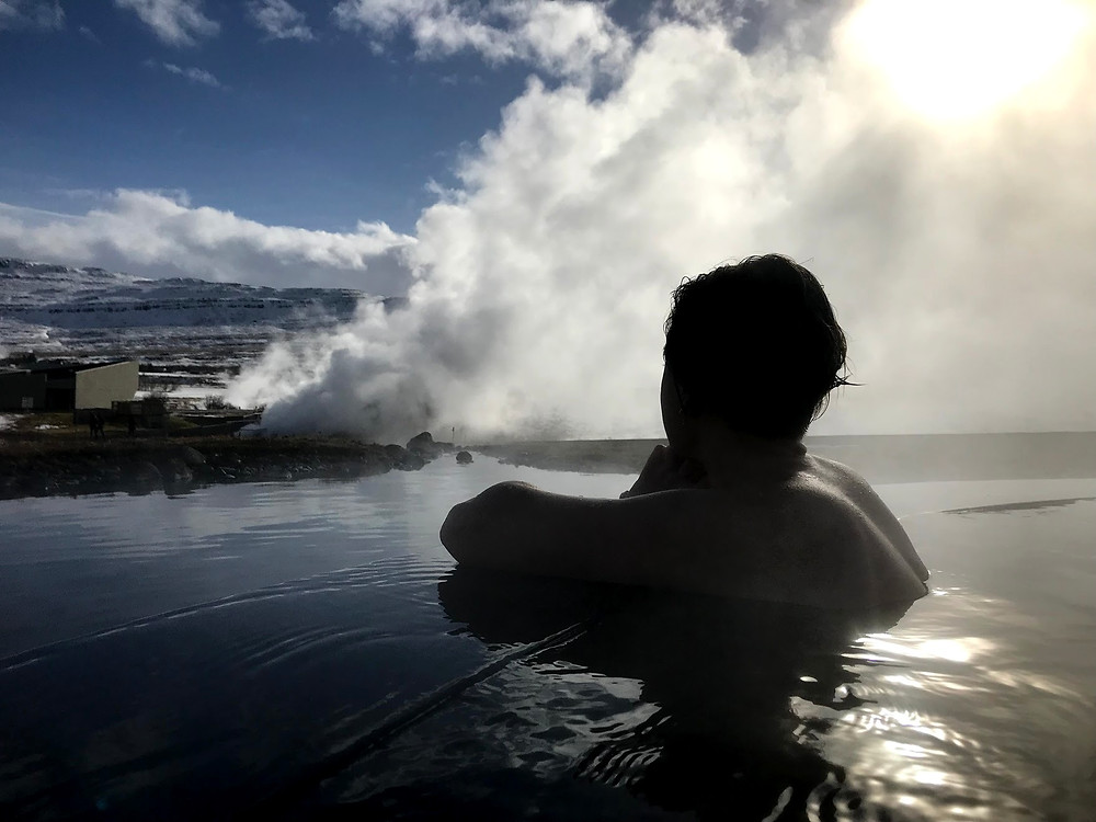 Krauma geothermal spa in Iceland