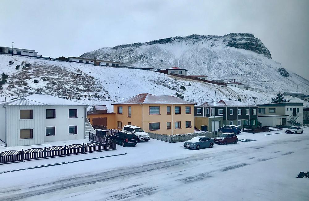 Ólafsvík in Iceland in winter