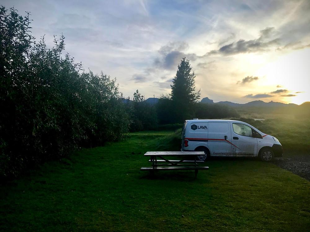 Fossardalur Guesthouse campsite
