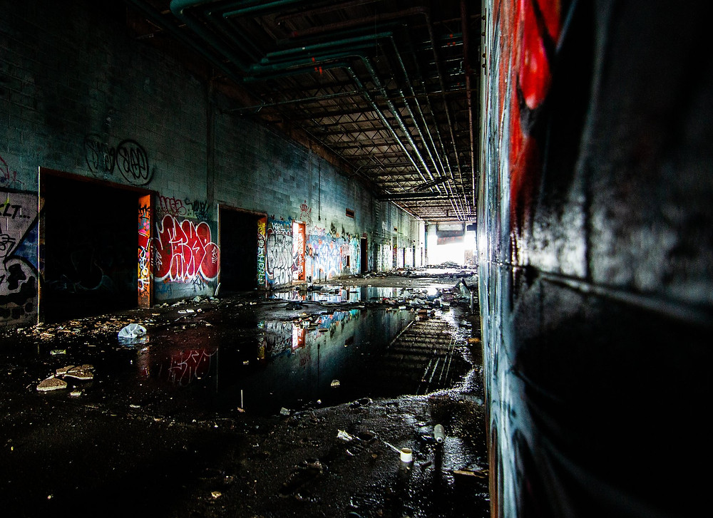 The abandoned Detroit Water and Sewage plant