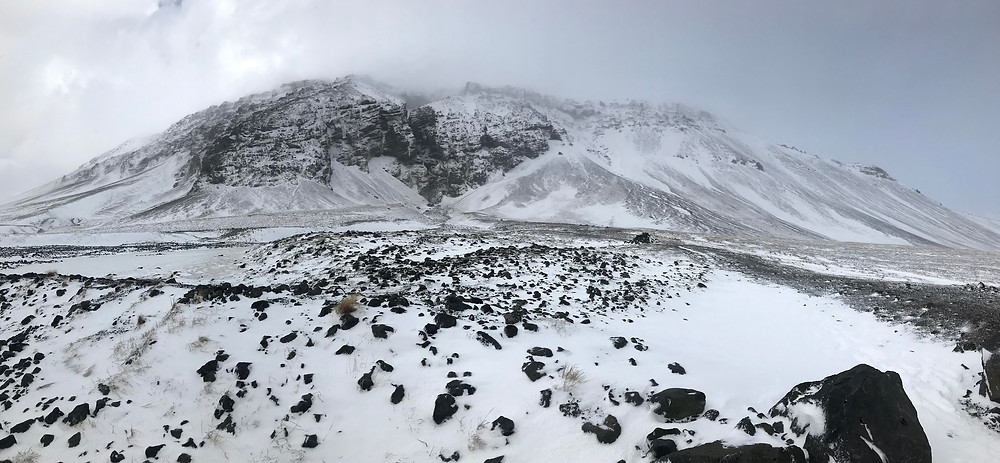 Rauðfeldsgjá gorge in Iceland in Winter