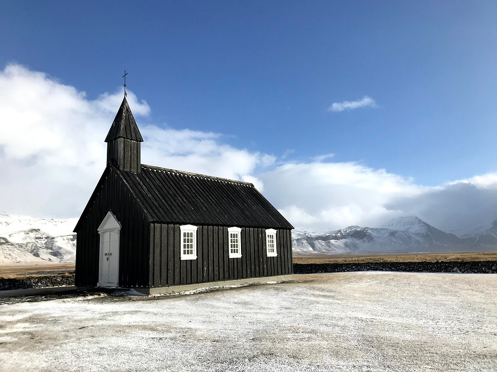 Búðir Black Church in Iceland in Winter