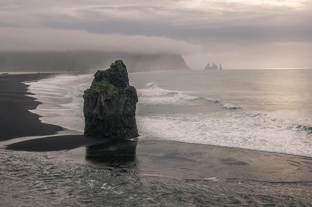 Kirkjufjara beach in Iceland