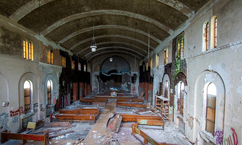 Abandoned St. Margaret Mary Catholic Church in Detroit