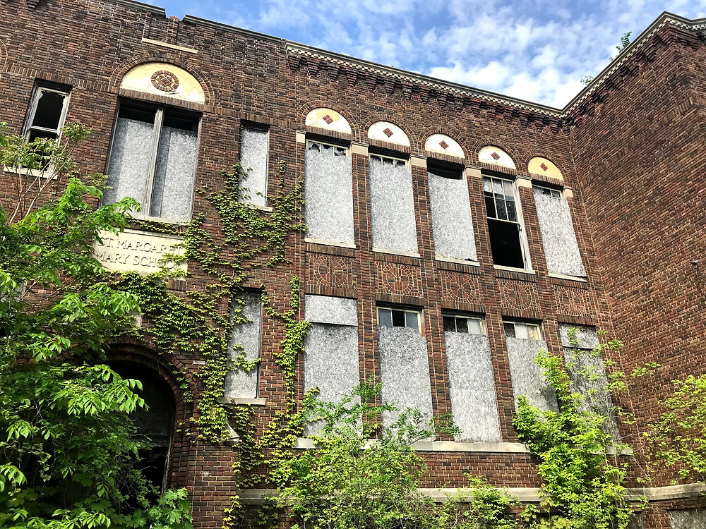 Abandoned St. Margaret Mary School in Detroit