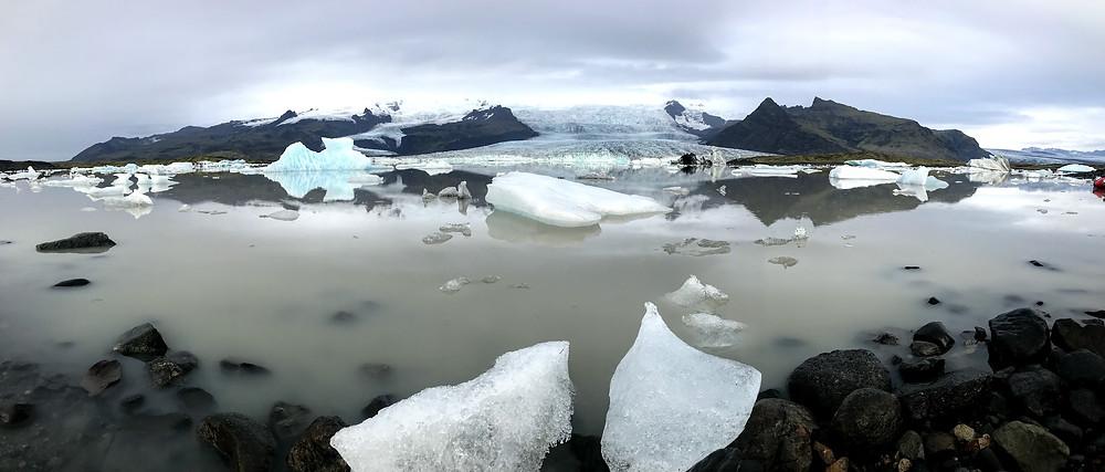 Fjallsárlón glacier lagoon in Iceland
