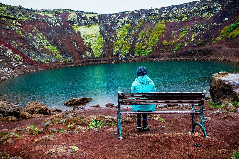 Kerið crater lake in Iceland