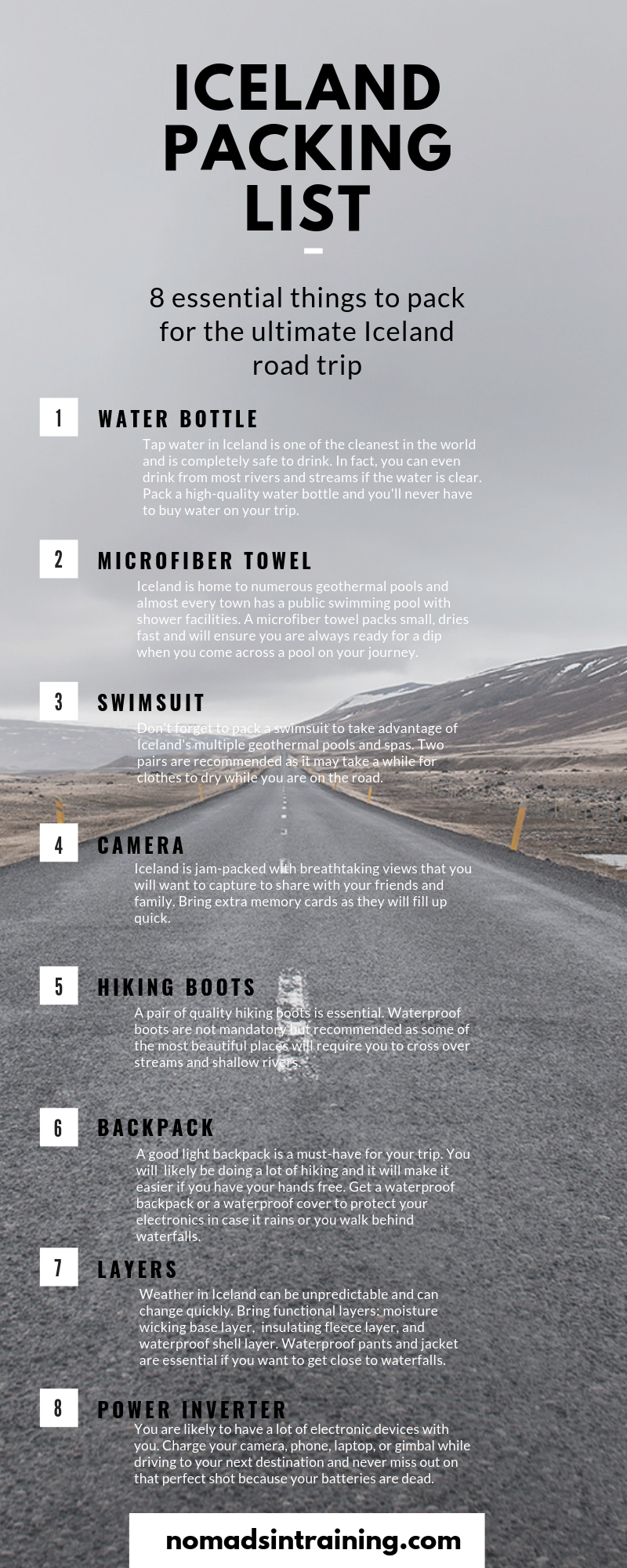 The ultimate packing list for Iceland road trip