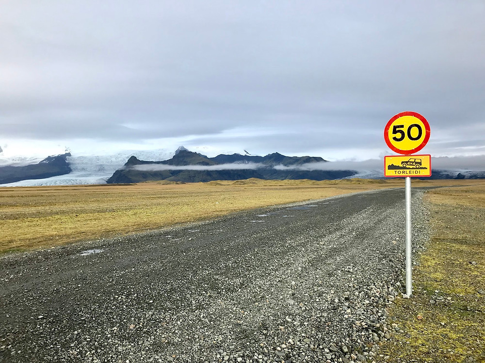 4 wheel drive road sign in Iceland