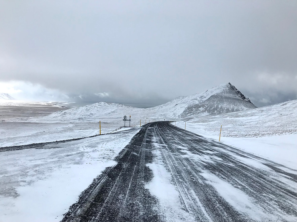 Snæfellsnes peninsula in Iceland in winter