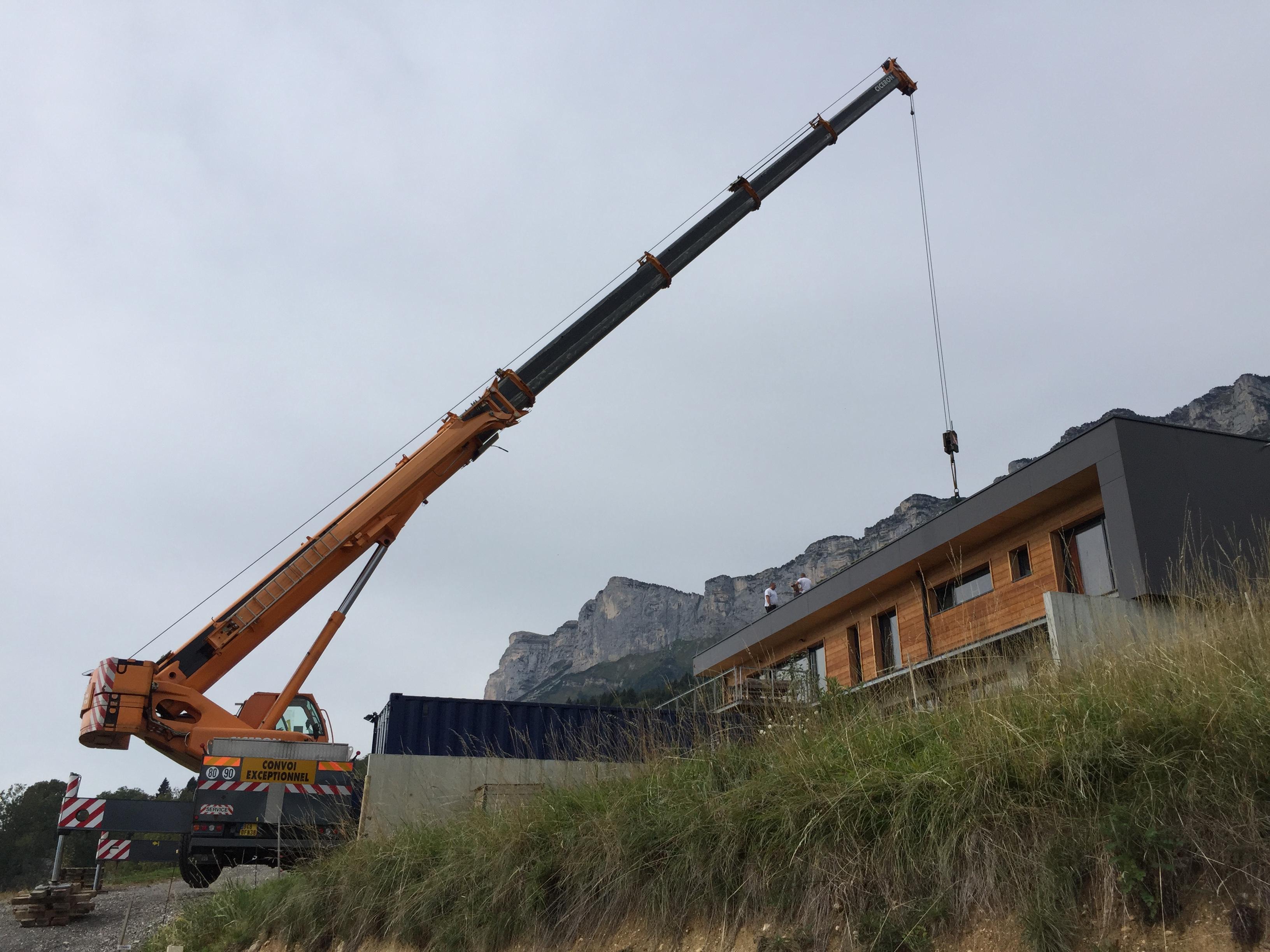 Grutage toiture Isère