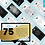 Thumbnail: Instagram Story CANVA template bundle 75 quote cards - Elegant Black & White