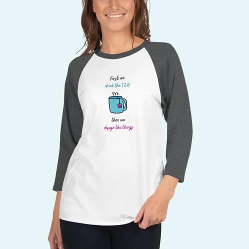 3/4 sleeve raglan shirt Tea