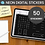 Thumbnail: White NEON Digital Sticker set - 50 stickers (pre-cropped PNG files)