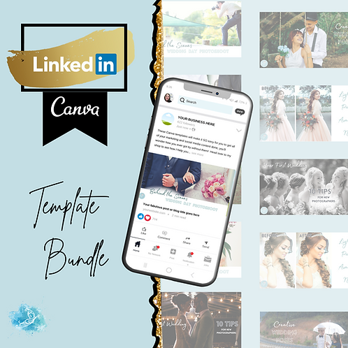 LinkedIn CANVA template bundle 5 varieties + 36 bonus templates!