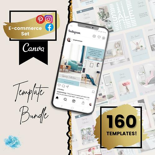 COMPLETE e-commerce set CANVA template bundle - 160 templates!