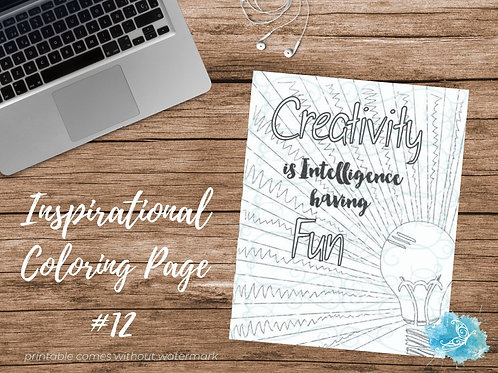 Adult Inspirational Coloring Page printable #12-Creativity