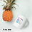 Thumbnail: White glossy mug Pineapple