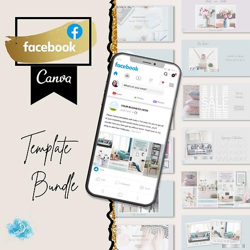 Facebook CANVA e-commerce template bundle 10 varieties + 30 bonus templates!