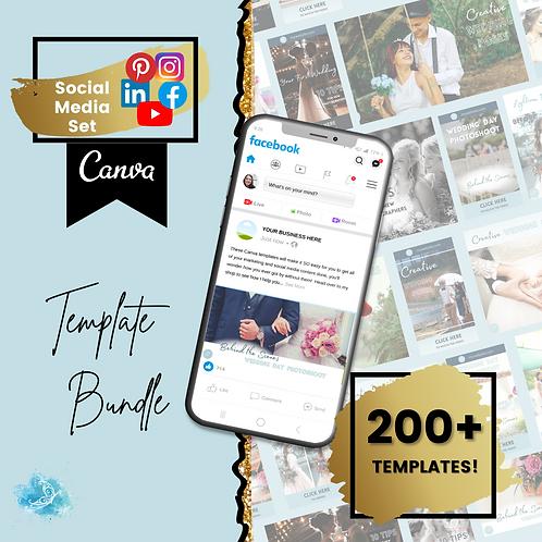 COMPLETE social media set CANVA template bundle - over 200 templates!
