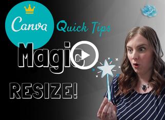 CANVA QUICK TIPS: Magic Resize | Canva Pro feature tutorial 2020