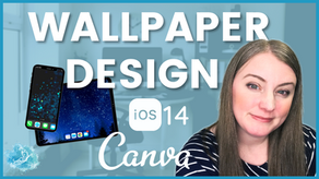 How to design custom wallpaper in Canva.  Create custom backgrounds for your devices for free!