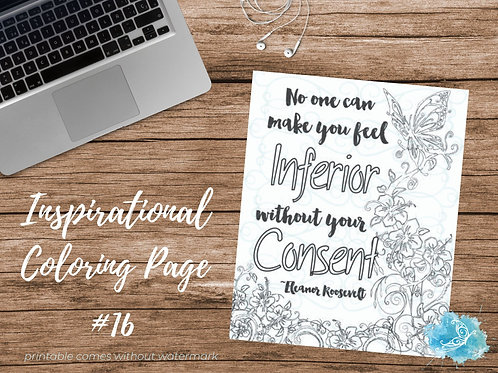 Adult Inspirational Coloring Page printable #16-Eleanor Roosevelt quote