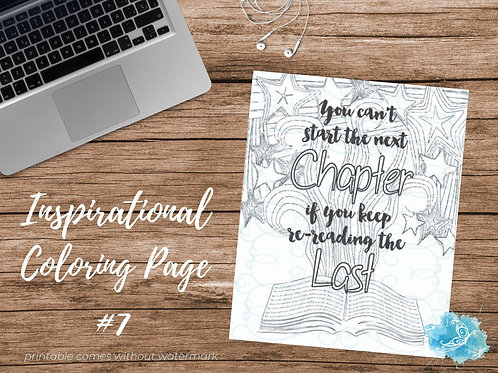Adult Inspirational Coloring Page printable #07-The Next Chapter