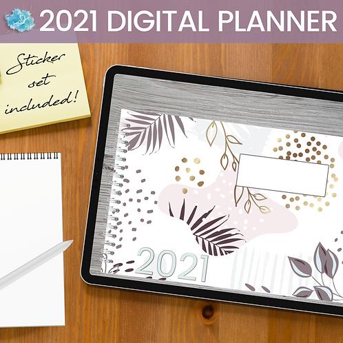 2021 Purple Vines Digital Planner - Bujo + 90 stickers
