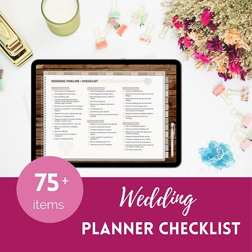 Complete Wedding Planner - Timeline + Checklist set DIGITAL VERSION
