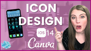 How to design iOS 14 icons in Canva.   Create custom app icons for your iPhone for free!