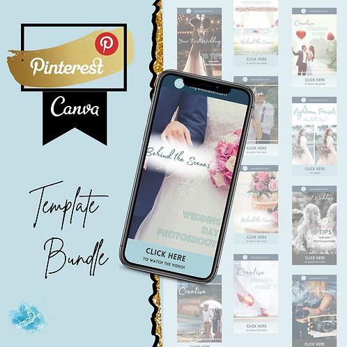 Pinterest CANVA template bundle 5 varieties + 36 bonus templates!