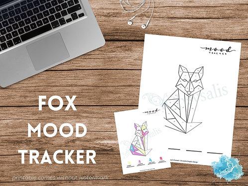 Fox Mood Tracker - Geometric Animals (digital + print files) bujo insert