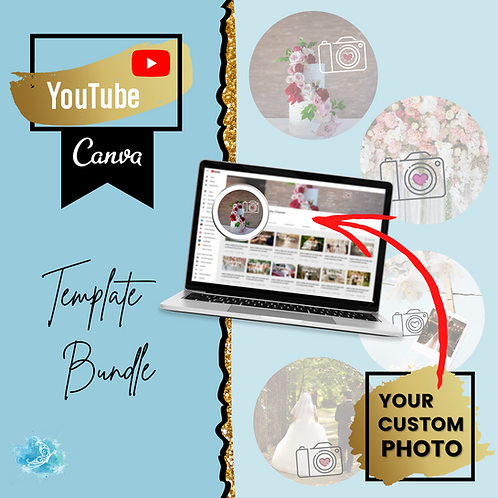 YouTube Profile picture CANVA template bundle + preview template!