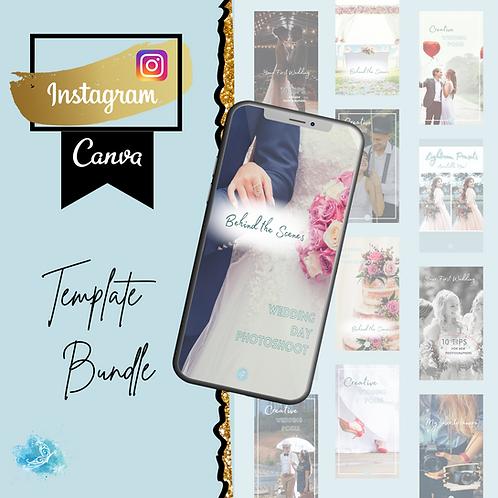 Instagram Story CANVA template bundle 5 varieties + 36 bonus templates!